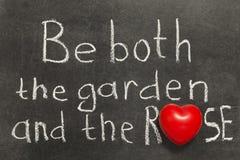 Le jardin et s'est levé Images libres de droits