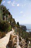 Le jardin exotique du Monaco Image stock