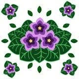 Le jardin fleurit l'illustration plate de vecteur Image stock