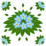 Le jardin fleurit l'illustration plate de vecteur Photos stock