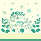 Le jardin fleurit la trame. illustration libre de droits