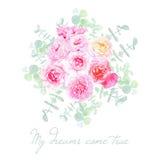 Le jardin fleurit le bouquet dénommé français illustration libre de droits