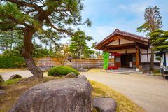 Le jardin japonais commémoratif de Fujita dans Hirosaki, Japon photo libre de droits