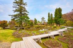 Le jardin japonais commémoratif de Fujita dans Hirosaki, Japon image stock