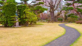 Le jardin japonais commémoratif de Fujita dans Hirosaki, Japon photographie stock libre de droits