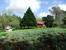 Le Jardin Lavender Park. Another point of interest to visit in Gramado, Rio Grande do Sul, Brazil Stock Photo