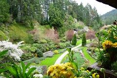 Le jardin submerg? des jardins de Butchart photos stock