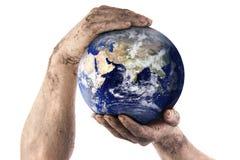 Le jardinier modifié remet le monde de fixation Image libre de droits