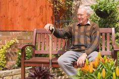 Le jardinier satisfaisant Images libres de droits