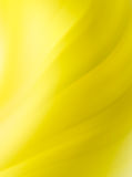 Le jaune abstrait courbe le fond Photos libres de droits