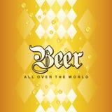 Le jaune bavarois d'or de bière d'Oktoberfest partout dans le monde laisse tomber le fond Image stock