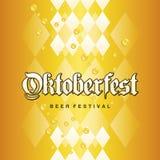Le jaune bavarois d'or de festival de bière d'Oktoberfest laisse tomber le fond Photographie stock libre de droits