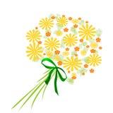 Le jaune fleurit le bouquet illustration stock