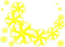 Le jaune fleurit le fond Photos libres de droits