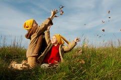 Le jaune recouvre des gnomes Images libres de droits
