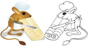 Le jerboa de cuisinier déroule la pâte Photographie stock