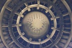 Le jet de combat détaille le fond - moteur réactif Photos stock