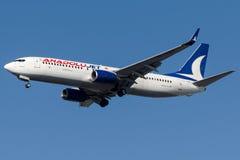 Le jet de TC-SBR Anadolu, Boeing 737-800 a appelé NUSRET Photo libre de droits