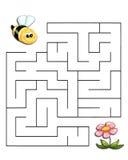 Le jeu 19, l'abeille atteint la fleur Photographie stock libre de droits