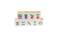 Le jeu chinois de Mahjong a isolé 001 Image stock