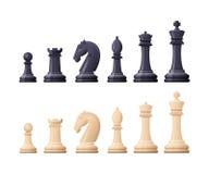 Le jeu d'échecs noir et blanc rapièce, figure Tactique logique illustration stock