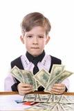 Le jeu des enfants modernes - le banquier, financier photos stock