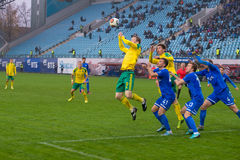 Le jeu de football Photo libre de droits