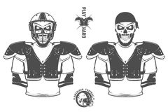 Le jeu de football américain imprime dur pour la chemise, les emblèmes, le logo, le tatouage et les labels Photographie stock libre de droits