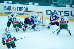 Le jeu de l'hockey Photographie stock libre de droits