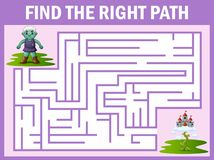 Le jeu de labyrinthe du géant trouve son chemin au palais de ciel illustration de vecteur