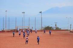 Le jeu des équipes amateurs à Antofagasta, Chili Images libres de droits