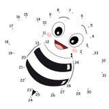 Le jeu des points, l'abeille illustration libre de droits