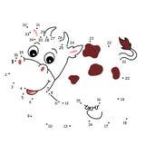 Le jeu des points, la vache Photographie stock libre de droits