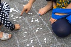 Le jeu traditionnel vietnamien a appelé O un plan rapproché de Quan photos libres de droits