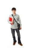 Le jeune étudiant d'isolement sur un blanc photographie stock libre de droits