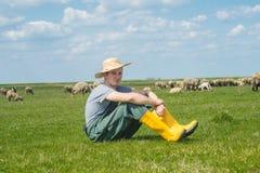Le jeune berger Photo stock