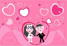 Le jeune couple obtient 2 mariés Photo stock