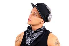 Le jeune DJ Photographie stock