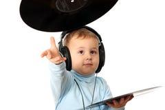 Le jeune DJ drôle photo libre de droits