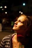 Le jeune femme avec s'est levé Images libres de droits