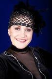 Le jeune femme a rectifié dans un costume du danseur Images libres de droits
