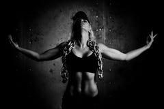 Le jeune folâtre la femme Photo libre de droits