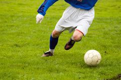 Le jeune football Photos stock