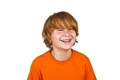 Le jeune garçon futé a l'amusement Image libre de droits