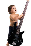 Le jeune guitariste. Photo stock
