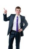 Le jeune homme d'affaires dans un procès Image libre de droits