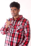 Le jeune homme dirige son doigt à vous Image libre de droits