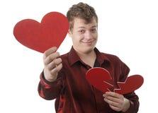 Le jeune homme a effectué un choix correct dans l'amour Images stock