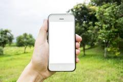 Le jeune homme utilise son téléphone portable pour prendre des photos de ses souvenirs photographie stock libre de droits