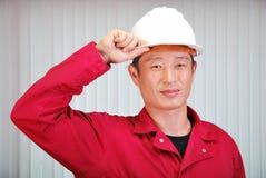 Le jeune ingénieur, l'ouvrier. Photos stock